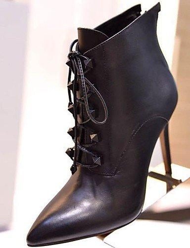 Schuhe Mode Stiefel Frauen spitze Zehe Stilett heell Stiefeletten günstig
