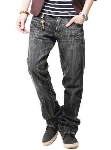 (ベストマート)BestMart デニム パンツ メンズ ジーンズ チノパンツ ZIPポケット 605565 ブラック M