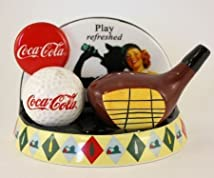 Coca-Cola Play Refreshed Golf Sat & Pepper Shakers