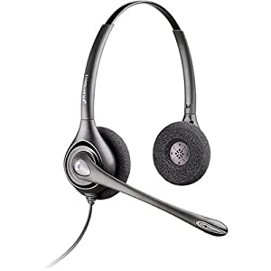 Plantronics SupraPlus H261N Headset - Wired Connectivity - Stereo - Over-the-head - Silver