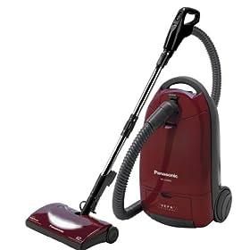 Panasonic MC-CG902 Canister Vacuum Cleaner, Burgundy finish