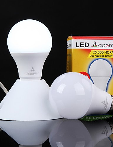 ZSQ 7W lampadine a sfera senza flash di luce la salute di frequenza , bianco fresco #3710