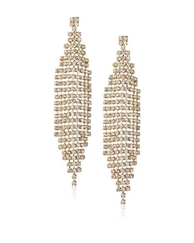 Chloe by Liv Oliver 18K Gold-Plated Crystal Chandelier Crystal Earrings