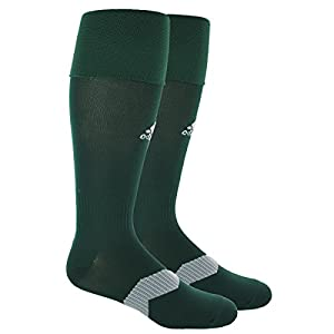 adidas Metro IV Soccer Socks, Collegiate Green/White/Clear Grey, Medium