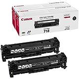 Canon 718 Black - Toner cartridge - 2 x black - 3400 pages 2662B005