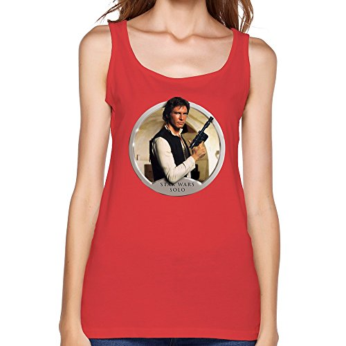 Jiaso Women's O-Neck Funny The Star Wars Han Solo Tank Top XX-Large Red