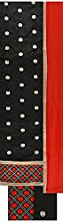 Shine Women's Cotton Unstitched Dress Material (Black)