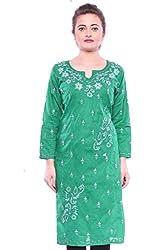 Lucknavi Chikan Exquisite Elegant Women Tunic Kurti Kurta By Ada XS99117