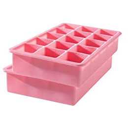 Product Image Tovolo Perfect Cube Ice Trays 2 pk. - Pink