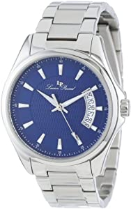 Lucien Piccard Men's 98660-33 Excalibur Blue Textured Dial Stainless Steel Watch