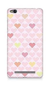 Amez designer printed 3d premium high quality back case cover forXiaomi Redmi 3S (hearts squares)