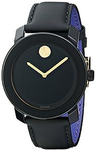 Movado Men's 3600046 Bold Analog Display Swiss Quartz Black Watch by Movado
