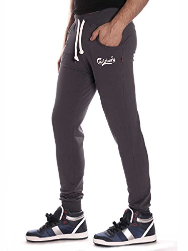Pantalone Carlsberg Bielastico Uomo Cbu1959 Piombo, XXL MainApps