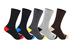 Supersox Mens Regular Length Pack of 5 Combed Cotton Socks