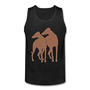 Heerinsy Men's Animal Dog Ohio Gray Hound Adoption Color Sleeveless Tank Top XXL