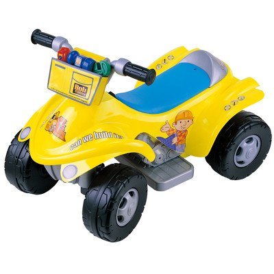 New Star Bob the Builder 4 x 4 ATV Battery Operated Riding Toy with Tool Bag