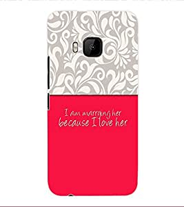 ColourCraft Love Quote Back Case Cover for HTC ONE M9