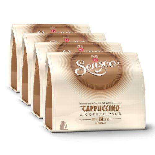 Choose Senseo Cappuccino, Design, Recipe, Pack of 4, 4 x 8 Coffee Pods from Douwe Egberts