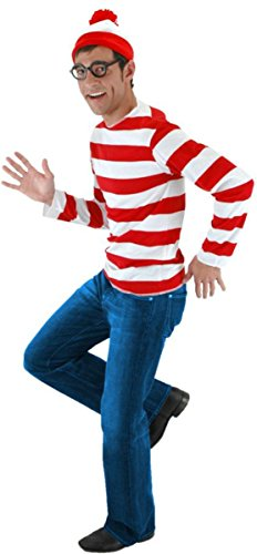 Morris Costumes Men's Where'S Waldo Kit, Small/Medium