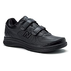 New Balance Men's MW577 Hook-and-Loop, Black-12.5