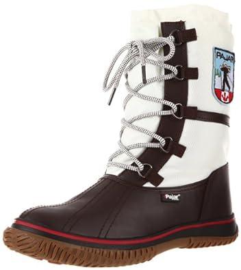 Pajar Women's Grip Low Snow Boot, Dark Brown/Off White, 37