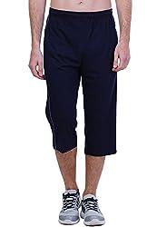 Seaboard 3/4th Blue Capri For Men