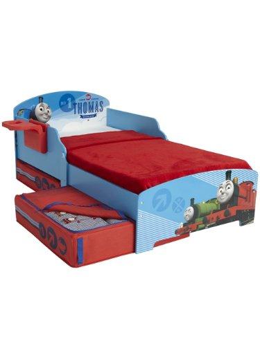 Thomas le petit train-Lit pour enfant avec rangement et tablette entièrement Matelas à ressorts