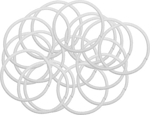 Elastic Hair Bands - White - 50 Pack front-15907