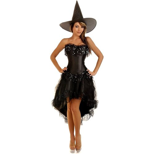 DAISY CORSETS DAISY-1780 3 PC Burlesque Witch Costume