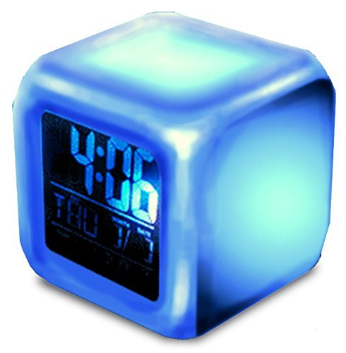 【 魔法 の 時計 】 レインボー LED キューブ クロック 七色 に 変化 ワイヤレス イルミネーション インテリア ライト アップ 【I.T outlet】 MI-MAGLOCK