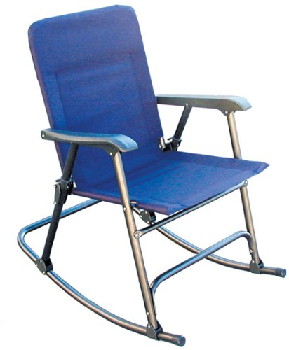 Prime Products Elite Folding Rocker Chair Blue fortable