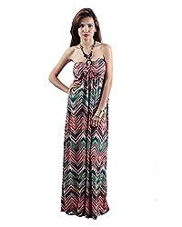 Envy Women's Blended Asymmetric Dress (Multicolor, Free Size)