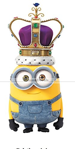 7-KING-BOB-MINION-Despicable-Me-Movie-Wall-Decal-Sticker-Kids-Room-Decor-Crown