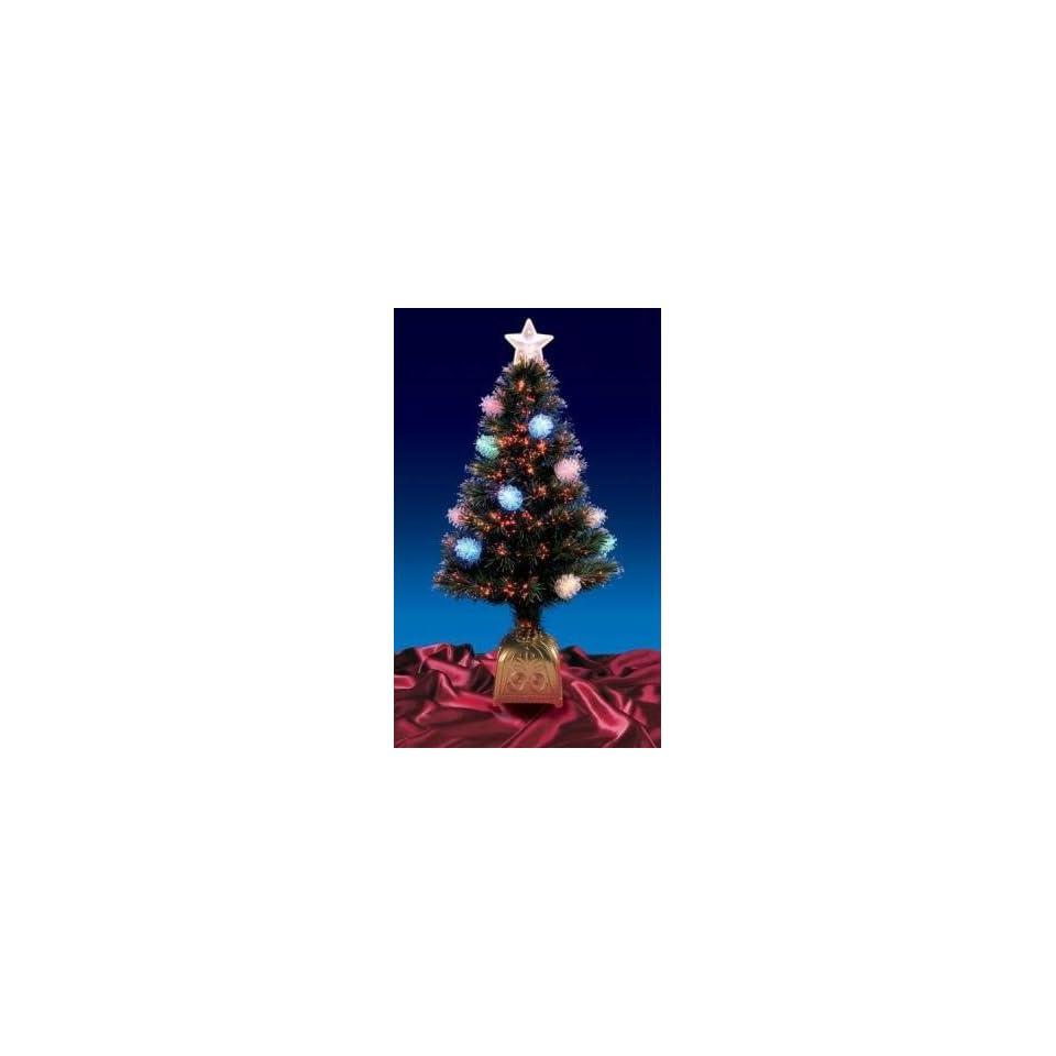 3 Pre Lit LED Fiber Optic Pine Cone Artificial Christmas Tree   Multi Lights
