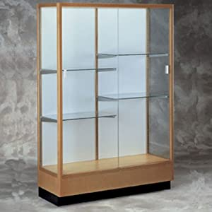 Heritage 8949 Series Floor Case Backing: White Laminate, Wood Finish: Cordovan