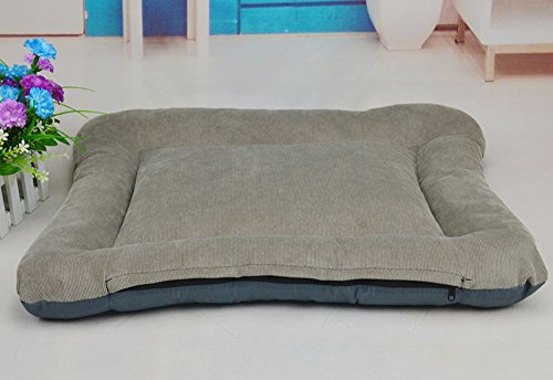 NEO Home Corduroy Rectangle Luxury Dog Beds, Washable and Memory Foam Dog Cushion for Large Dogs,Filled with PP Cotton.All-in-One Design in Many Colors and Sizes. (Cheap Big Dog Beds compare prices)
