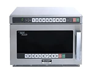 Sharp RCD2200M Commercial Microwave - Heavy Duty, TwinTouch 2200 Watts, 208/230V
