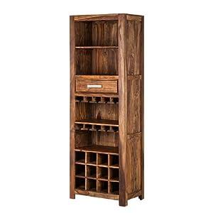 weinregal ohio sheesham massivholz it aufh ngungen f r die gl ser barregal standregal. Black Bedroom Furniture Sets. Home Design Ideas