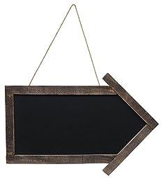 CWI Gifts Arrow Blackboard with Jute Hanger, 11.5\