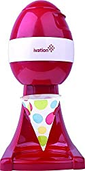 Ivation IS80 Electric Ice Shaver, Snow Cone Maker, Shaved Ice Machine, Ice Snow Shaver, Ice Crusher (Red)