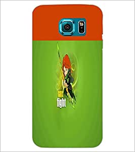 PrintDhaba Girl Fight D-5639 Back Case Cover for SAMSUNG GALAXY S6 EDGE (Multi-Coloured)