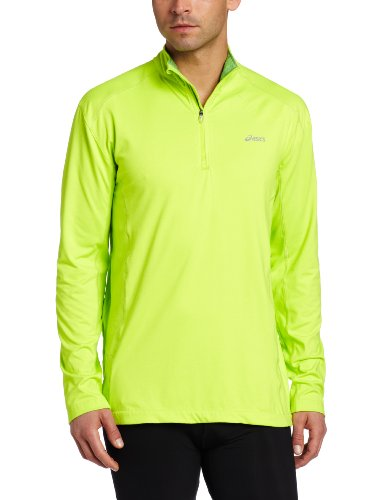 ASICS Asics Men's Jesse 1/2 Zip Top, XX-Large, Acid Green/Techno Lime