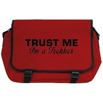 Trust Me I'm A Trekker Messenger Bag - Red