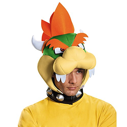 Disguise Men's Bowser Headpiece Costume Accessory - Adult