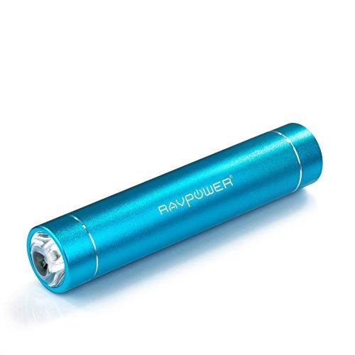 RAVPower 3200mAh モバイルバッテリー 超小型?スティックタイプ LEDライト 5V/1A iPhone5S,iPhone5C,iPhone5,iPhone4S,apple製品,Xperia,GALAXY S,softbank,au,docomo,Android,各種スマホ,Wi-Fiルータ等対応 1年保証 RP-PB08 (ブルー)