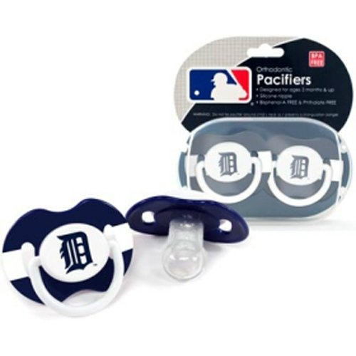 Bss - Detroit Tigers Mlb Baby Pacifiers (2 Pack) front-1048289