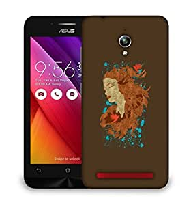 Snoogg Beautiful Lady Designer Protective Back Case Cover For ASUS ZENFONE GO