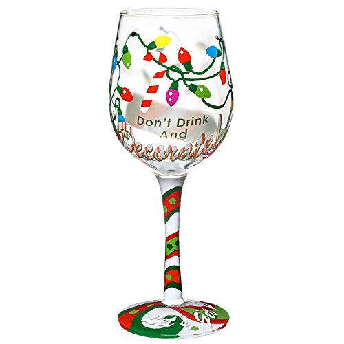 Don't Drink and Decorate Hand Decorated Wine Glass (Decorate Wine Glasses compare prices)