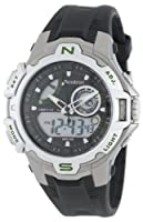 Armitron Men's 204616GNBK Sport Chronograph Analog-Digital Silver-Tone Black Strap Watch from Armitron