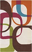 Hot Sale Surya G96 Goa Contemporary Hand Tufted 100% New Zealand Wool Multi-Colored Rug (8-Feet x 11-Feet )